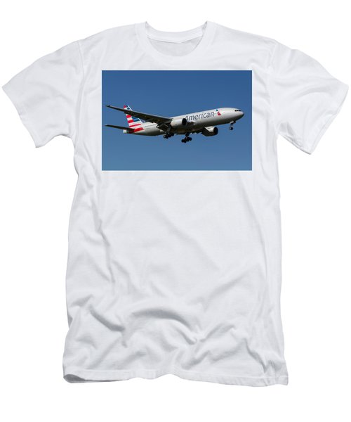 American Airlines Boeing 777 Men's T-Shirt (Athletic Fit)