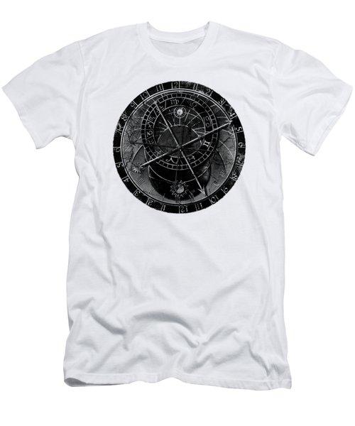 Astronomical Clock Men's T-Shirt (Slim Fit) by Michal Boubin