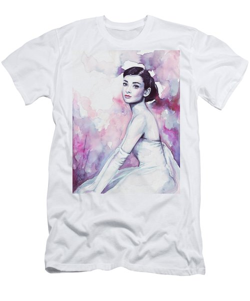 Audrey Hepburn Portrait Men's T-Shirt (Athletic Fit)