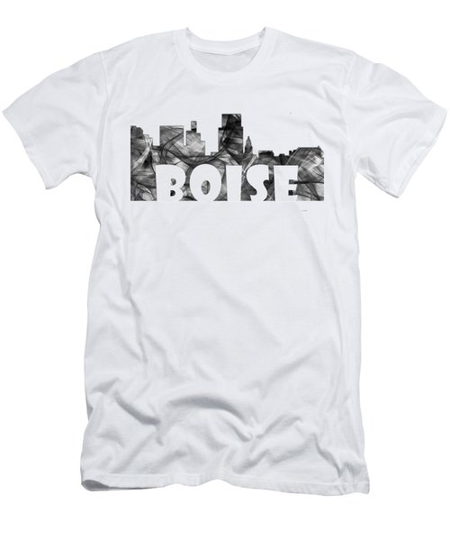Boise Idaho Skyline Men's T-Shirt (Slim Fit) by Marlene Watson