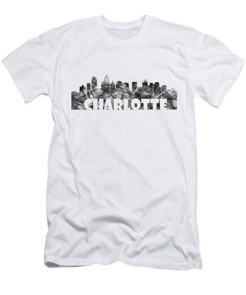 Charlotte Nc Skyline Men's T-Shirt (Athletic Fit)