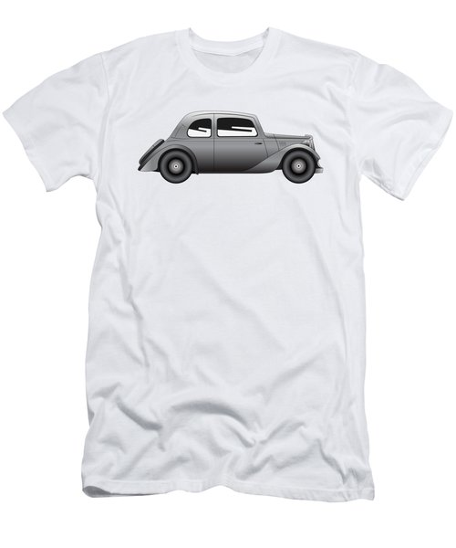 Men's T-Shirt (Slim Fit) featuring the digital art Coupe - Vintage Model Of Car by Michal Boubin