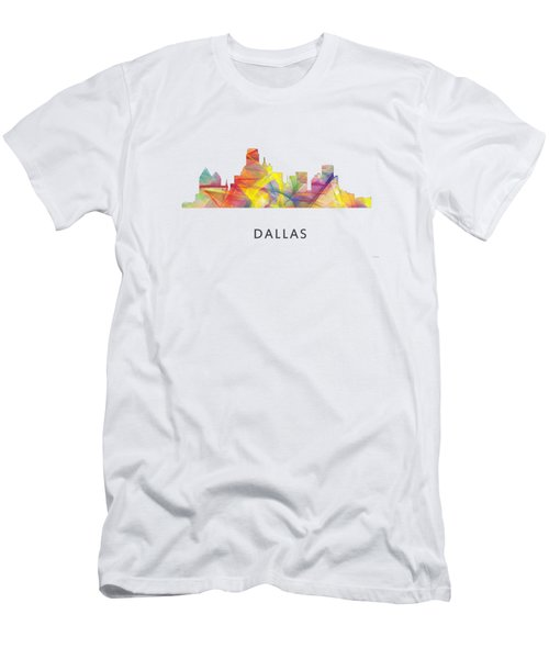 Dallas Texas Skyline Men's T-Shirt (Slim Fit) by Marlene Watson