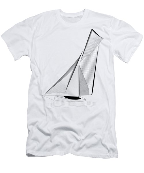 Falmouth Oyster Boat Men's T-Shirt (Athletic Fit)