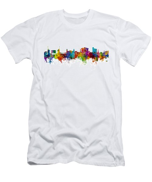 Fayetteville Arkansas Skyline Men's T-Shirt (Athletic Fit)