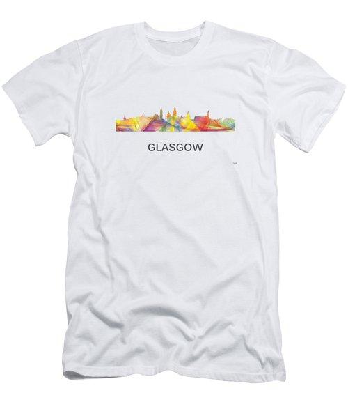 Glasgow Scotland Skyline Men's T-Shirt (Athletic Fit)