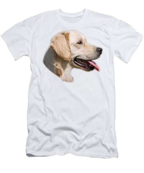 Golden Retriever Portrait Men's T-Shirt (Athletic Fit)