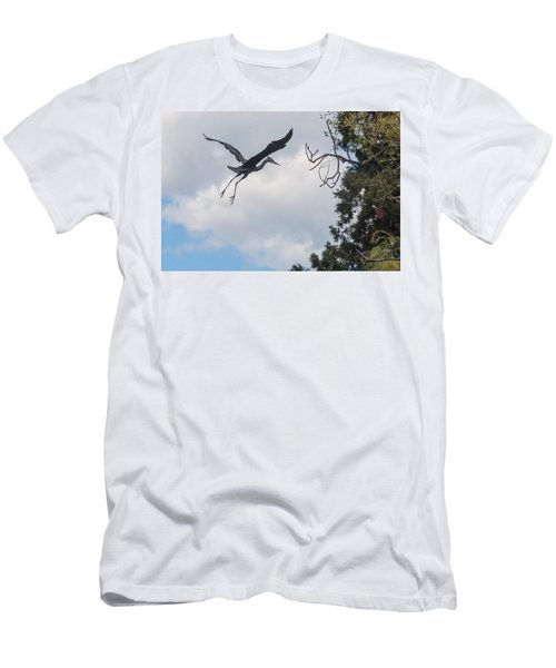Great Blue Heron Men's T-Shirt (Slim Fit) by Keith Boone