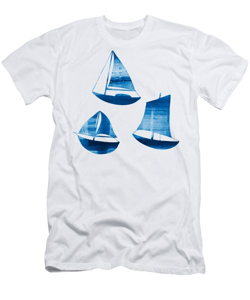 3 Little Blue Sailing Boats Men's T-Shirt (Athletic Fit)