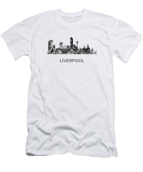 Liverpool England Skyline Men's T-Shirt (Athletic Fit)