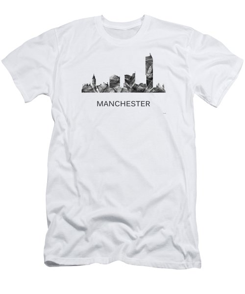 Manchester England Skyline Men's T-Shirt (Athletic Fit)