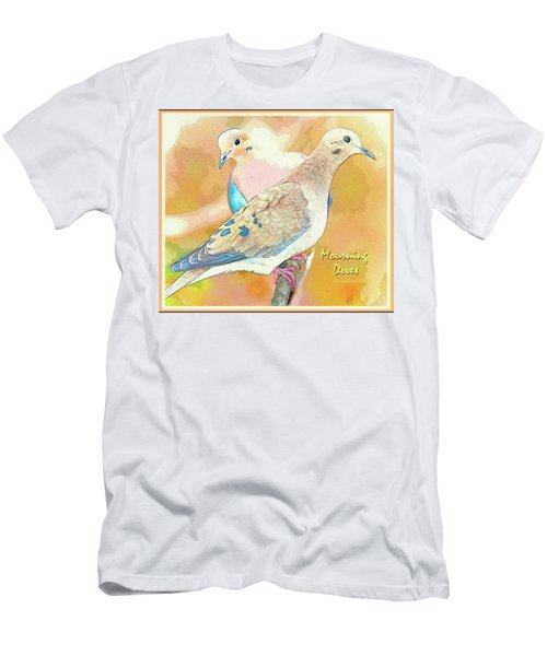 Mourning Dove Pair  Men's T-Shirt (Slim Fit) by A Gurmankin