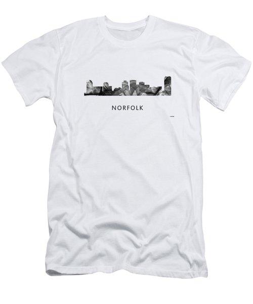 Norfolk Virginia Skyline Men's T-Shirt (Athletic Fit)