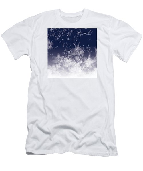 Men's T-Shirt (Slim Fit) featuring the digital art Peace by Trilby Cole