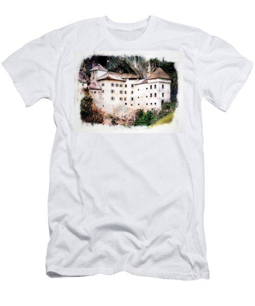 Men's T-Shirt (Slim Fit) featuring the photograph Predjama Castle, Predjama Slovenia by Joseph Hendrix
