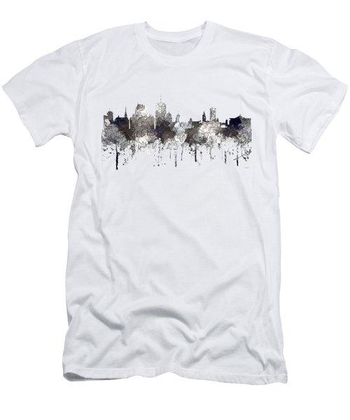 Quebec City Que. Skyline Men's T-Shirt (Athletic Fit)