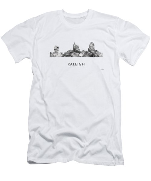 Raleigh North Carolina Skyline Men's T-Shirt (Slim Fit) by Marlene Watson