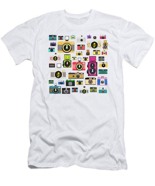 Retro Camera Men's T-Shirt (Slim Fit) by Setsiri Silapasuwanchai