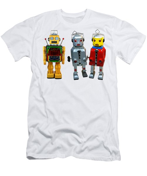 3 Space Robot Toys Original Art Men's T-Shirt (Athletic Fit)