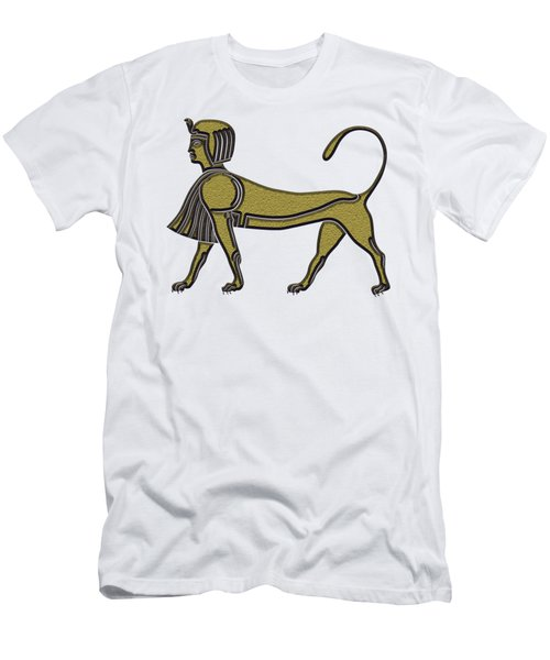 Men's T-Shirt (Slim Fit) featuring the digital art Sphinx - Mythical Creature Of Ancient Egypt by Michal Boubin
