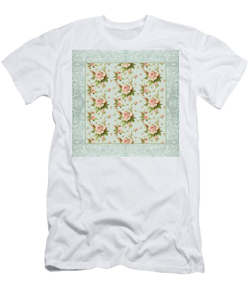 Summer At Cape May - Aged Modern Roses Pattern Men's T-Shirt (Athletic Fit)
