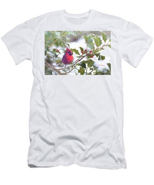 Men's T-Shirt (Athletic Fit) featuring the digital art Winter Birds by Jill Wellington