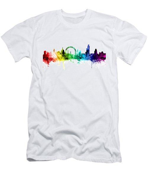 London England Skyline Men's T-Shirt (Slim Fit) by Michael Tompsett