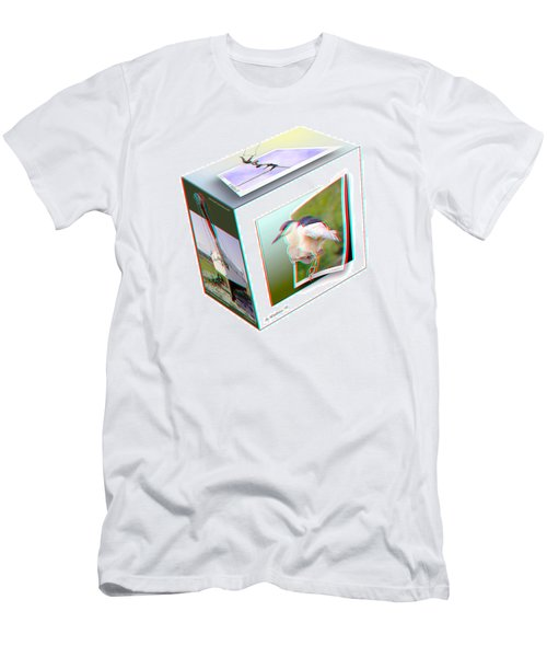 3d Cube - Use Red-cyan 3d Glasses Men's T-Shirt (Athletic Fit)