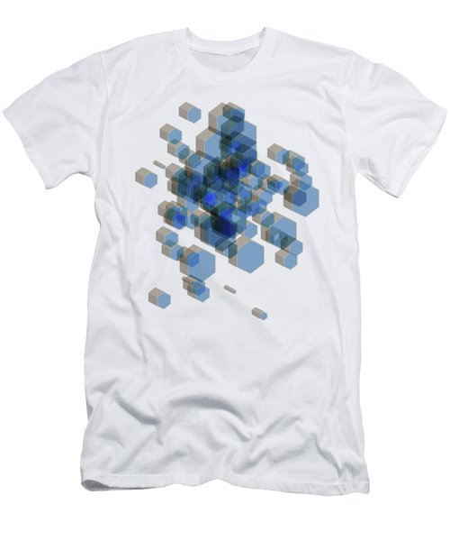 3d Hexagon Background Men's T-Shirt (Athletic Fit)