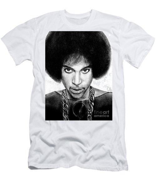 3rd Eye Girl - Prince Charcoal Portrait Drawing - Ai P Nilson Men's T-Shirt (Athletic Fit)