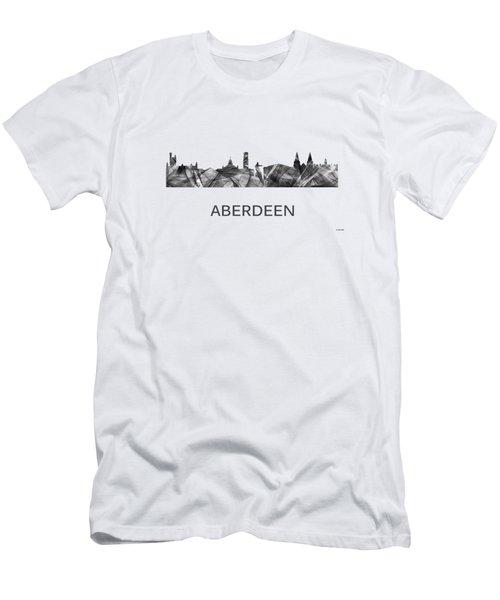 Aberdeen Scotland Skyline Men's T-Shirt (Athletic Fit)