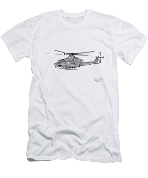 Men's T-Shirt (Slim Fit) featuring the digital art Bell Helicopter Uh-1y Venom by Arthur Eggers