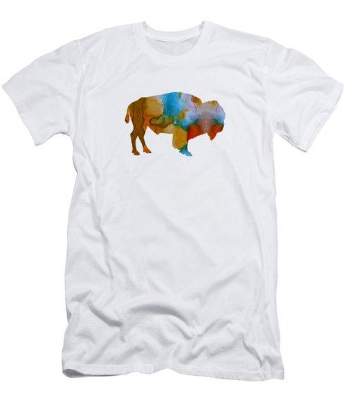 Bison Men's T-Shirt (Slim Fit) by Mordax Furittus