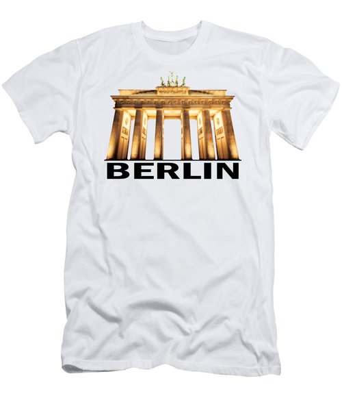 Brandenburg Gate Men's T-Shirt (Slim Fit)