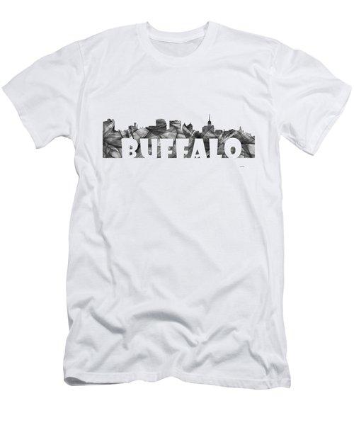 Buffalo New York Skyline Men's T-Shirt (Athletic Fit)