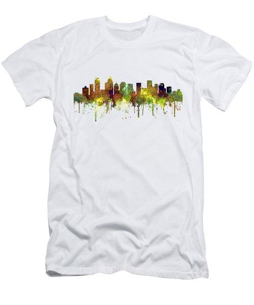 Charlotte Nc Skyline Skyline Men's T-Shirt (Athletic Fit)