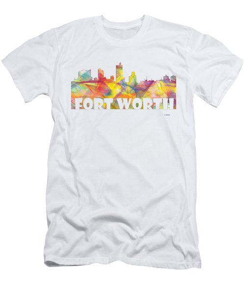 Fort Worth Texas Skyline Men's T-Shirt (Athletic Fit)