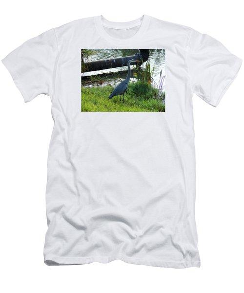 Great Blue Heron Men's T-Shirt (Slim Fit) by Kay Gilley
