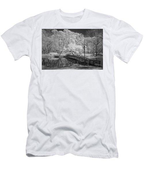 Bridge Over Water Men's T-Shirt (Slim Fit) by Denis Lemay