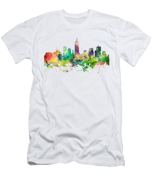 Indiana Indianapolis Skyline Men's T-Shirt (Athletic Fit)