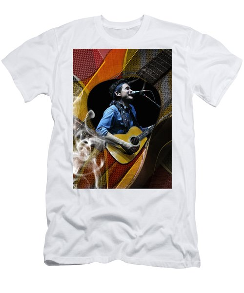 John Mayer Art Men's T-Shirt (Slim Fit) by Marvin Blaine