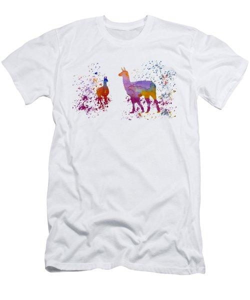 Llamas Men's T-Shirt (Slim Fit)