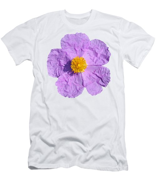 Rockrose Flower Men's T-Shirt (Slim Fit) by George Atsametakis