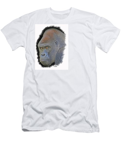 Men's T-Shirt (Athletic Fit) featuring the digital art Silverback by Larry Linton