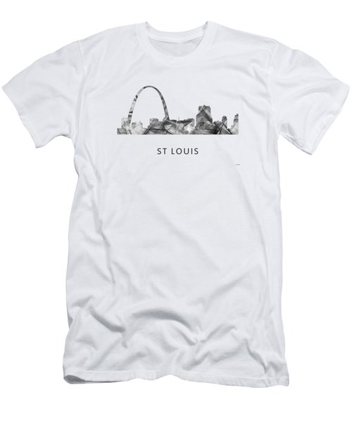 St Louis Missouri Skyline Men's T-Shirt (Slim Fit) by Marlene Watson