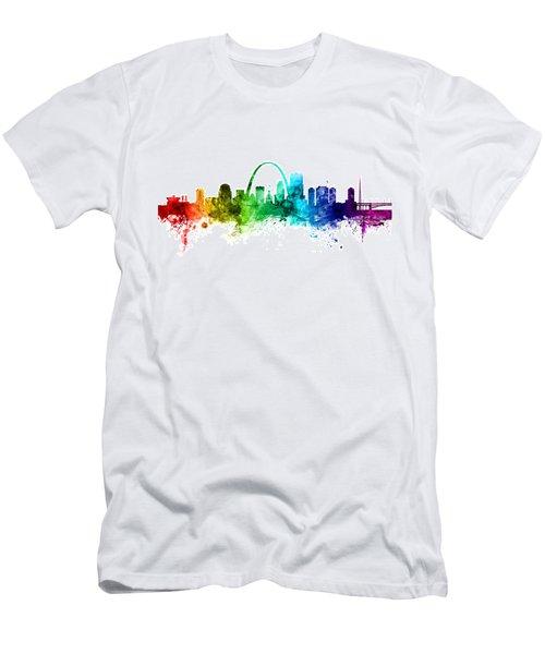 St Louis Missouri Skyline Men's T-Shirt (Athletic Fit)