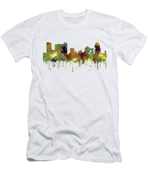 St Petersburg Florida Skyline Men's T-Shirt (Athletic Fit)