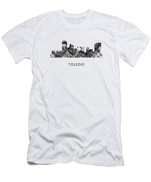 Toledo Ohio Skyline Men's T-Shirt (Slim Fit) by Marlene Watson