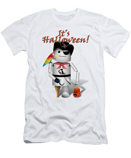 Trick Or Treat Time For Robo-x9 Men's T-Shirt (Slim Fit) by Gravityx9 Designs