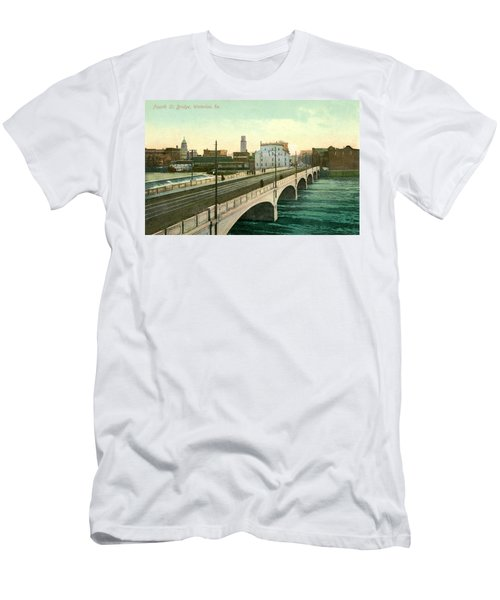 4th Street Bridge Waterloo Iowa Men's T-Shirt (Athletic Fit)
